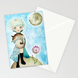 Wintry Little Prince Stationery Cards