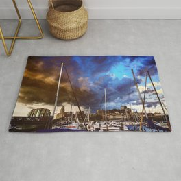 Storm Over the Erie Basin Marina Rug