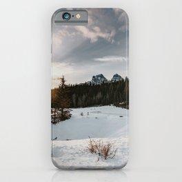 Photo print winter Canada snowy sunrise iPhone Case