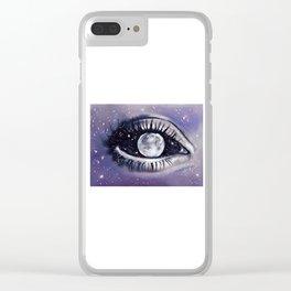 moony eye Clear iPhone Case