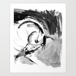 Horse (Bowing) Art Print