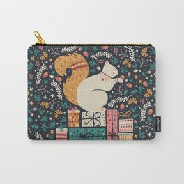 Merry Little Squirrel  Carry-All Pouch