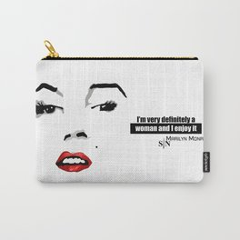 marilyn black and white art design Carry-All Pouch