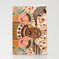 surrealism Stationery Cards featuring Folk Surrealism by CrazyMavis