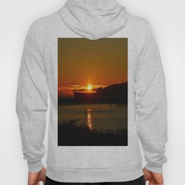 Sunset Over Columbia River At Astoria Harbor Hoody