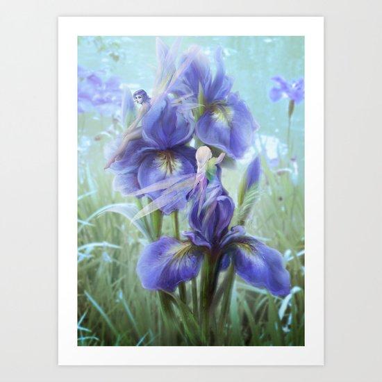 Imagine - Fantasy iris fairies Art Print