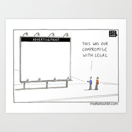 Compromise with Legal Art Print