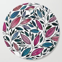 Leaf Pattern Illustration (P07 058) Cutting Board
