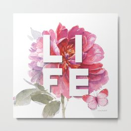 Obviously Pink Life Metal Print