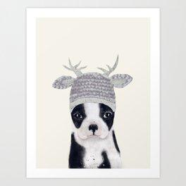 little boston ohh deer Art Print