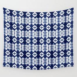 Indigo Shibori Windows Wall Tapestry
