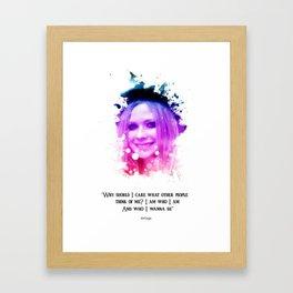 Avril Lavigne quotes Framed Art Print