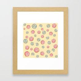 Happy Donuts Framed Art Print
