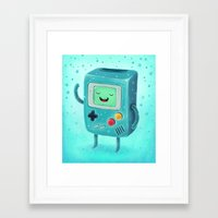 game Framed Art Prints featuring Game Beemo by Lime