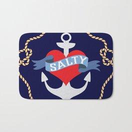 Old Salt Sailor Heart Bath Mat