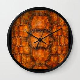 TEXTURED NATURAL ORGANIC TURTLE SHELL PATTERN Wall Clock