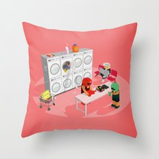 The Nick Yorkers in March Throw Pillow