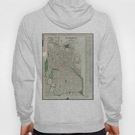 Vintage Map of Minneapolis Minnesota (1921) Hoody