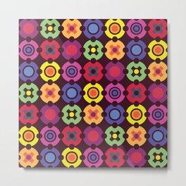 Multi Color Circle Geometric Shapes II Metal Print