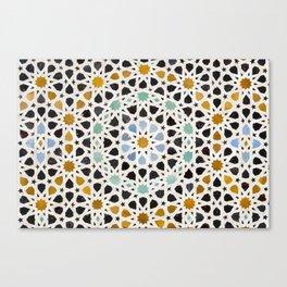 Mosaic Detail, Fes, Morocco Canvas Print