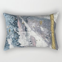 To the Mountains: a minimal abstract mixed-media piece by Alyssa Hamilton Art Rectangular Pillow