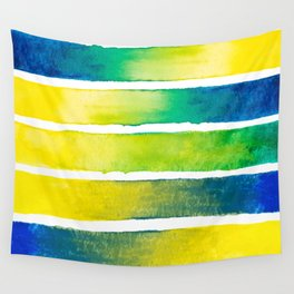 Tropical Earth Abstract Watercolor Wall Tapestry