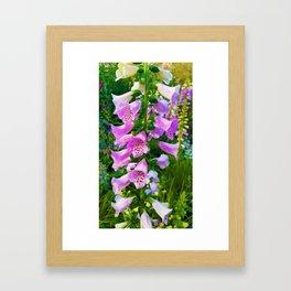 Lovely Purple Flowers Framed Art Print