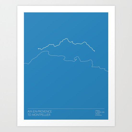 Le Tour De France 2013 Stage 6 Minimal Poster Art Print