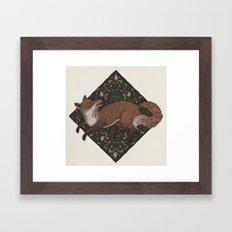 Fox Hops Framed Art Print