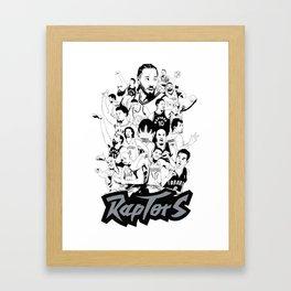 1995-2019 Raptors Framed Art Print