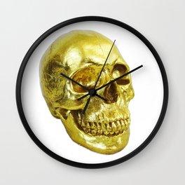 Goldish Skull Wall Clock
