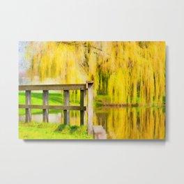 Weeping willow watercolor painting #3 Metal Print