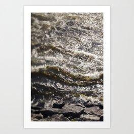 Torrent river Art Print