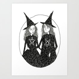 Witch Couple Art Print