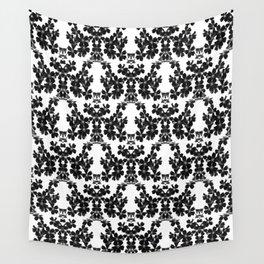 primrose bw pattern Wall Tapestry