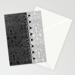 Lacing . 1 . Black and white snake. l Stationery Cards