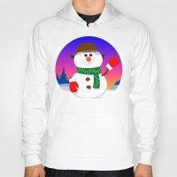 snowman Hoodies featuring SnowMan by tuditees