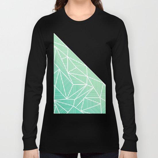 B Rays Geo Gradient Green Long Sleeve T-shirt