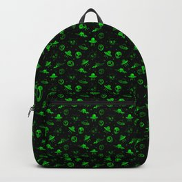 Aliens and UFOs Pattern Backpack