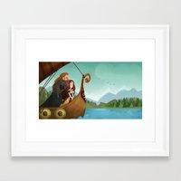 vikings Framed Art Prints featuring Vikings by Supergna
