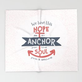 """""""Anchor for the Soul"""" Hand-lettered Bible Verse Throw Blanket"""