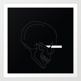 LINE #Skull (Dark) Art Print
