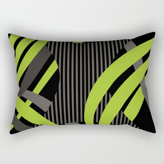 Green Wire Rectangular Pillow