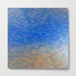 Blue Surface Metal Print