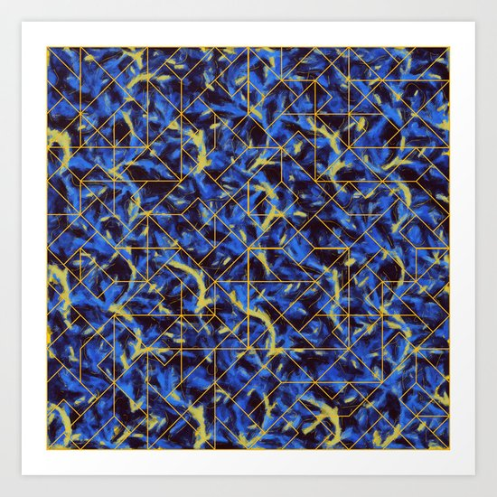 The Blue and Yellow Art Print