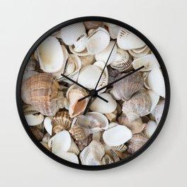 Seashells background pattern Wall Clock