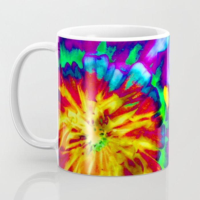 Groovy Tie Dyed Square Coffee Mug