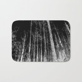 Black and white tree photography - Watercolor series #7 Bath Mat