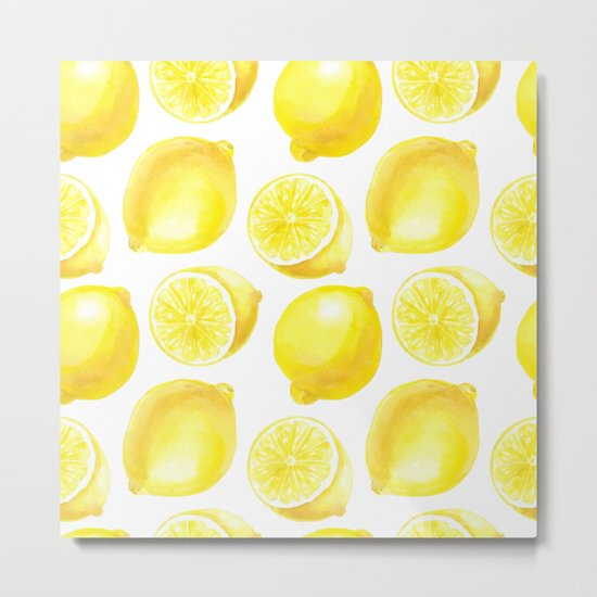 Lemons pattern design Metal Print