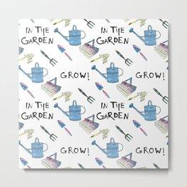 Gardening.  Metal Print